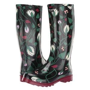 Kate Spade Rain Boots Size 7 NIB Renata Floral